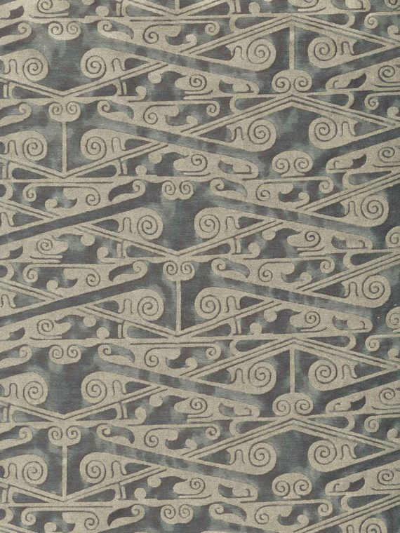 5902 TZIN in smoke & aluminum Fortuny Printed Cottons