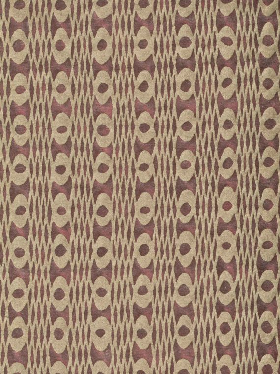 5913 UNITË in deep carmine & gold Fortuny Printed Cottons