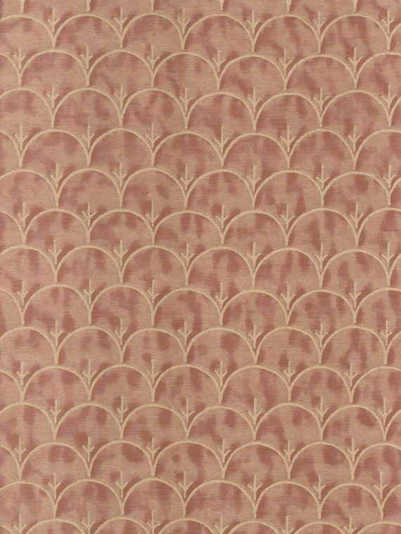 5932 ARBORETO in clay & silvery gold Fortuny Printed Cottons