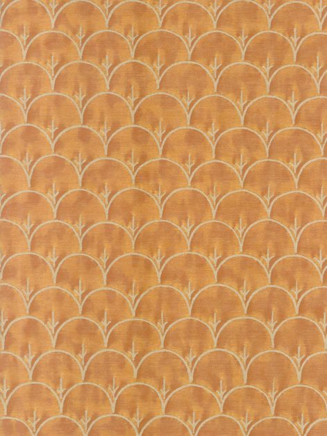 5933 ARBORETO in burnt peach & silvery gold Fortuny Printed Cottons