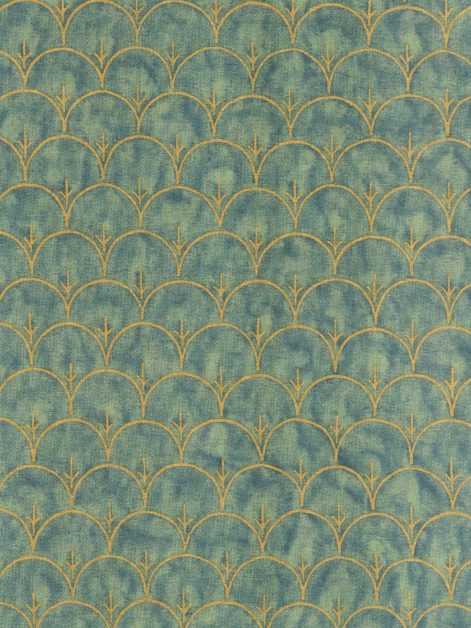 5934 ARBORETO in pine & gold texture Fortuny Printed Cottons