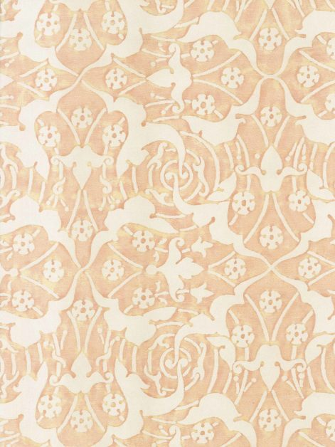 5920 ONEIROI in shell pink & driftwood Fortuny Printed Cottons