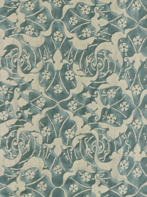 5922 ONEIROI in urban fog & silver Fortuny Printed Cottons