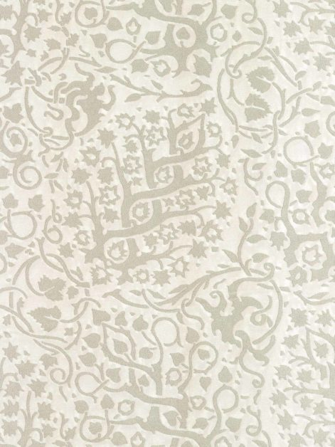 5941 PIGNE in frost & silver Fortuny Printed Cottons
