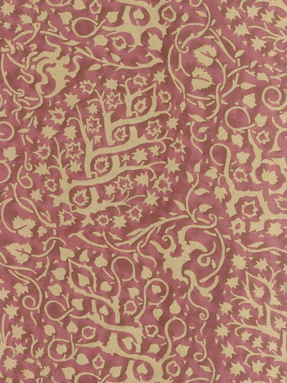 5942 PIGNE in ironweed & silvery gold Fortuny Printed Cottons